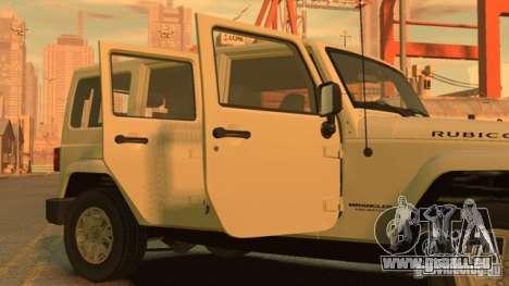 Jeep Wrangler Unlimited Rubicon 2013 pour GTA 4 est une gauche