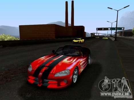 Dodge Viper SRT-10 Custom für GTA San Andreas Unteransicht
