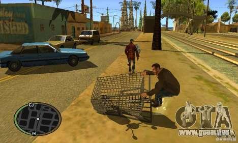 Shopping Cart Faggio V2 pour GTA San Andreas laissé vue