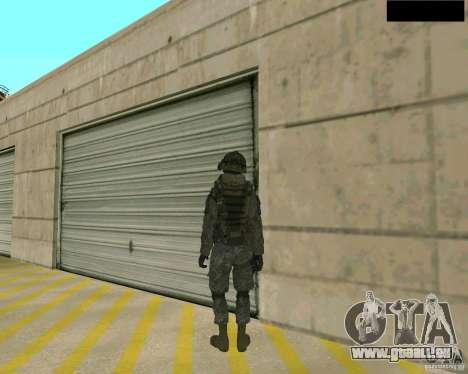 Peau du soldat de CODMW 2 pour GTA San Andreas troisième écran