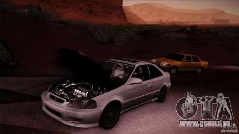 Honda Civic Coupe Si Coupe 1999 für GTA San Andreas Rückansicht