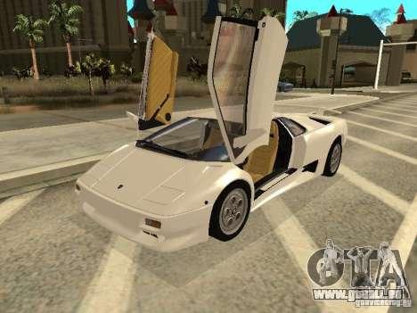 Lamborghini Diablo VT 1995 V2.0 pour GTA San Andreas laissé vue