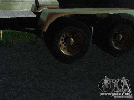 Armored Mack Titan Fuel Truck für GTA San Andreas Rückansicht