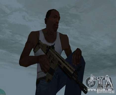 FN Scar L pour GTA San Andreas troisième écran