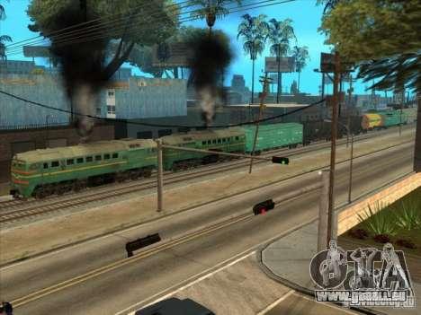 Chemin de fer d'États baltes locomotive fret pho pour GTA San Andreas vue arrière