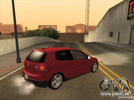VW Golf Mk5 GTi - Stock: Tunable pour GTA San Andreas vue de droite