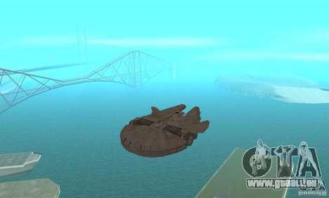 Faucon Millenium ! pour GTA San Andreas vue arrière