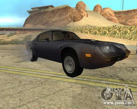 Pontiac Firebird Trans Am Turbo 1980 pour GTA San Andreas