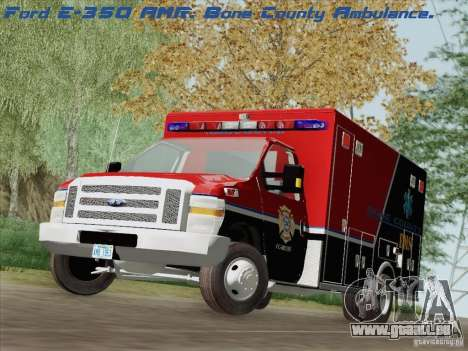 Ford E-350 AMR. Bone County Ambulance für GTA San Andreas
