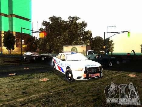 Dodge Charger 2011 Toronto Police für GTA San Andreas Rückansicht