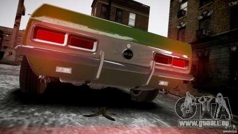 Chevrolet Camaro RS/SS 396 1968 pour GTA 4 est un droit