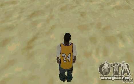 Afro-American HD skin pour GTA San Andreas troisième écran