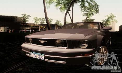 Ford Mustang GT Tunable für GTA San Andreas zurück linke Ansicht