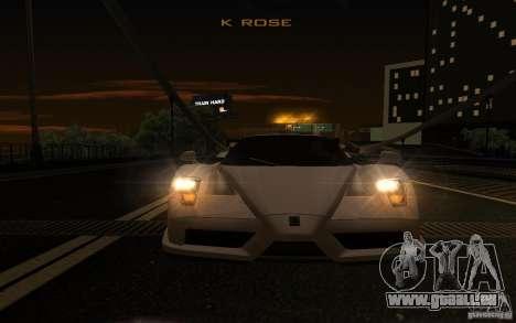 Ferrari Enzo ImVehFt pour GTA San Andreas vue de côté