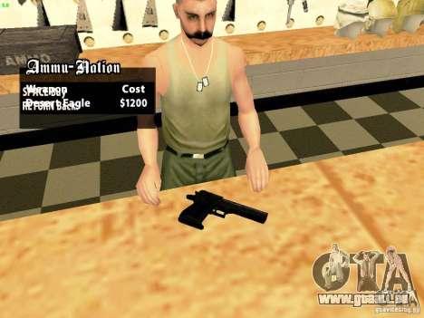 Desert Eagle MW3 pour GTA San Andreas deuxième écran
