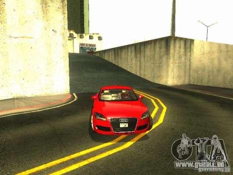 Audi TT 2009 v2.0 pour GTA San Andreas vue de dessus