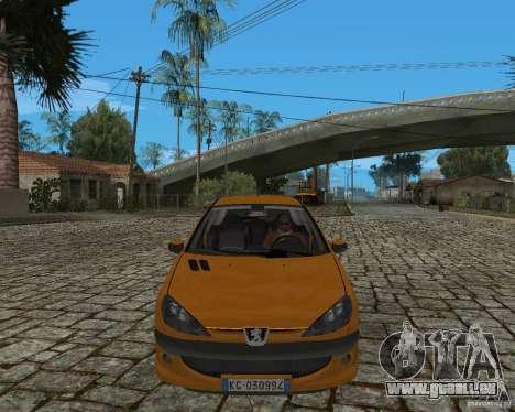 Peugeot 306 pour GTA San Andreas sur la vue arrière gauche