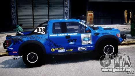 Ford F150 Racing Raptor XT 2011 pour GTA 4 est une vue de l'intérieur