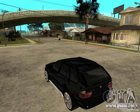 BMW X5 pour GTA San Andreas laissé vue