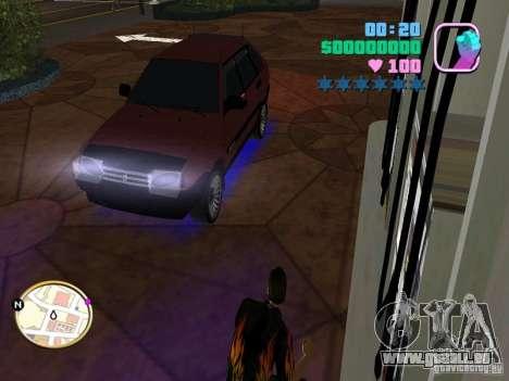Samara 2109 VAZ pour GTA Vice City sur la vue arrière gauche