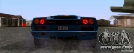Lamborghini Diablo SV V1.0 für GTA San Andreas Rückansicht