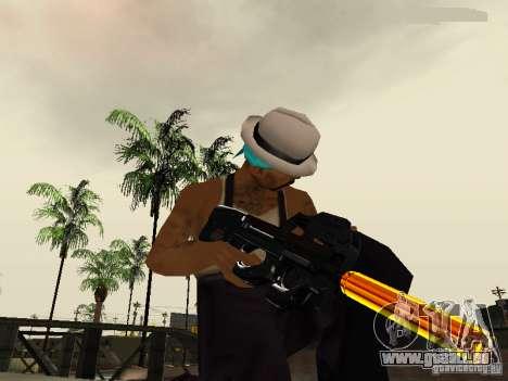Black and Yellow weapons pour GTA San Andreas cinquième écran