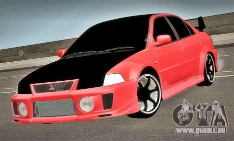 Mitsubishi Lancer Evolution 6 pour GTA San Andreas vue de droite