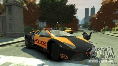 Lamborghini Reventon Police Hot Pursuit pour GTA 4