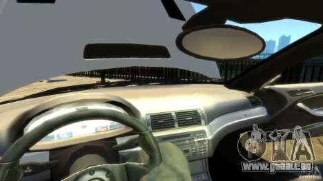 BMW E46 M3 GTR Sport pour GTA 4 est une vue de dessous