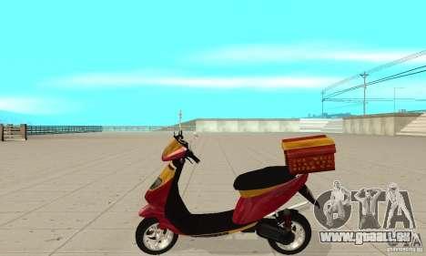 GTAIV Pizzaboy für GTA San Andreas linke Ansicht