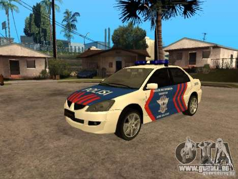 Mitsubishi Lancer Police Indonesia für GTA San Andreas