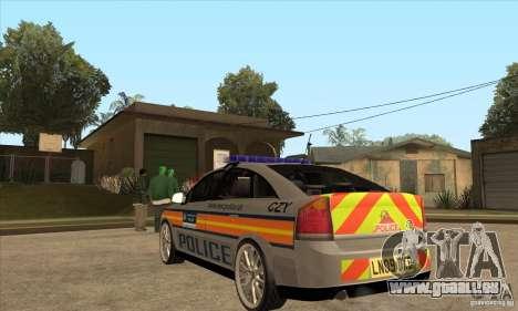 Opel Vectra 2009 Metropolitan Police pour GTA San Andreas sur la vue arrière gauche