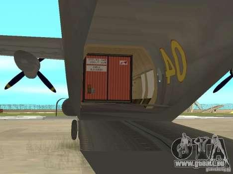 Antonow An-12 für GTA San Andreas rechten Ansicht