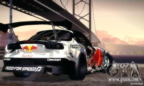 Mazda RX-7 Mad Mike für GTA San Andreas linke Ansicht
