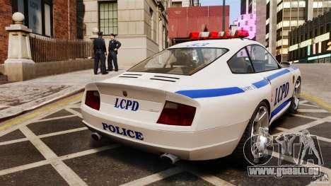 Comet Police pour GTA 4 Vue arrière de la gauche
