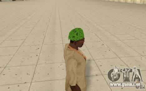 Bandana vert maryshuana pour GTA San Andreas deuxième écran