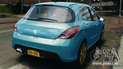 Peugeot 308 GTi 2011 v1.1 pour GTA 4 Vue arrière de la gauche