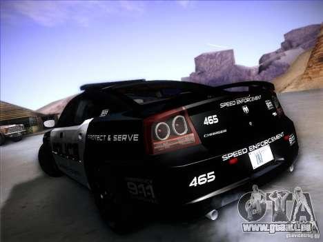 Dodge Charger RT Police Speed Enforcement pour GTA San Andreas vue de droite