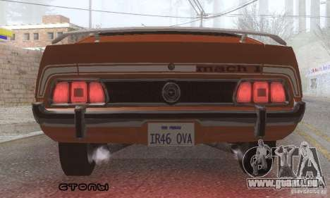 Ford Mustang Mach1 1973 pour GTA San Andreas salon