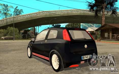 Fiat Grande Punto 3.0 Abarth pour GTA San Andreas sur la vue arrière gauche