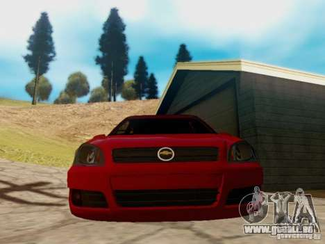 Chevrolet Celta 1.0 VHC für GTA San Andreas zurück linke Ansicht