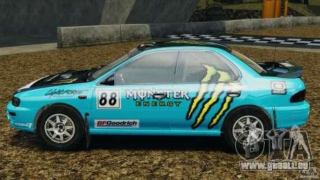 Subaru Impreza WRX STI 1995 Rally version pour GTA 4 est une gauche