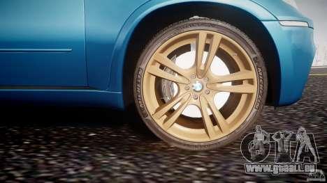 BMW X5 M-Power wheels V-spoke pour GTA 4 est une vue de dessous