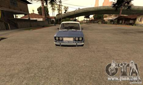 VAZ 2106 anciens v2.0 pour GTA San Andreas vue intérieure