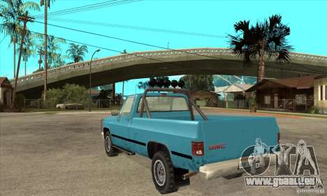 GMC Sierra 2500 pour GTA San Andreas sur la vue arrière gauche