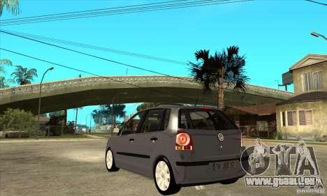 Volkswagen Polo 2008 für GTA San Andreas zurück linke Ansicht