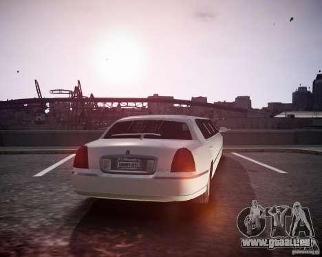 Lincoln Town Car Limousine für GTA 4 linke Ansicht