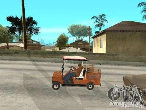 Golfcart caddy für GTA San Andreas rechten Ansicht