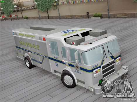 Pierce Fire Rescues. Bone County Hazmat für GTA San Andreas zurück linke Ansicht