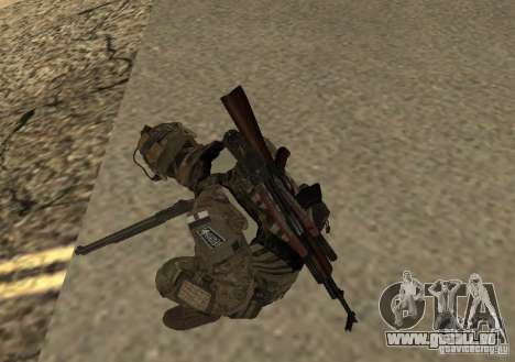 GROM Operator pour GTA San Andreas deuxième écran